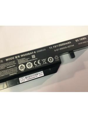 Clevo W650BAT-6 6-87-W650S-4D7A2 S650SC W650DC laptop battery